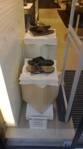 escaparate zapatos cojines