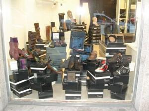 escaparate tienda de calzado
