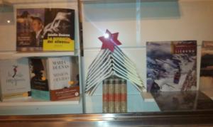 escaparate de libreria navidad