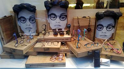 escaparates originales de opticas