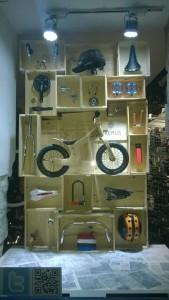 escaparate tienda de bicis