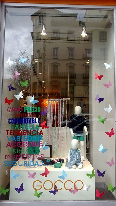 Decoracion Zapateria Infantil ~ PRIMAVERA Escaparate con mariposas  Blog escaparatismo
