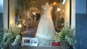 escaparate bodas flores novia